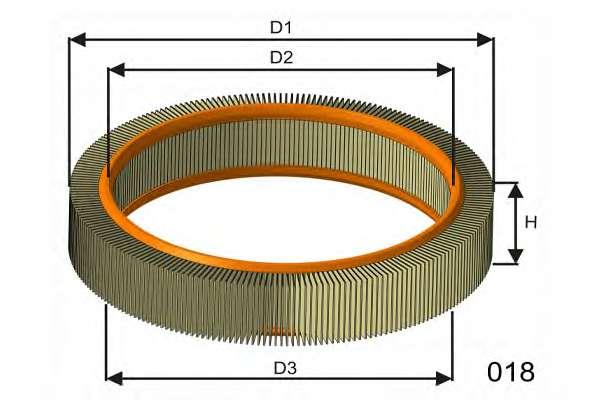 Воздушный фильтр MISFAT RM819