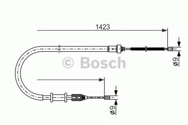 Трос, стояночная тормозная система BOSCH 1 987 477 632