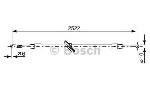Трос, стояночная тормозная система BOSCH 1 987 482 029