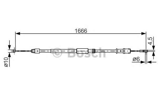 Трос, стояночная тормозная система BOSCH 1 987 482 032
