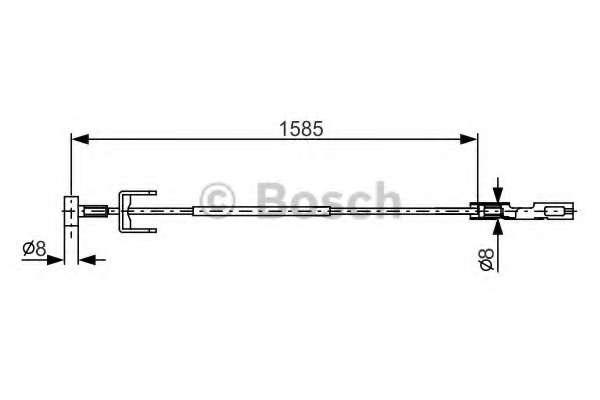 Трос, стояночная тормозная система BOSCH 1 987 482 145