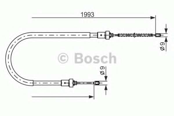 Трос, стояночная тормозная система BOSCH 1 987 482 233