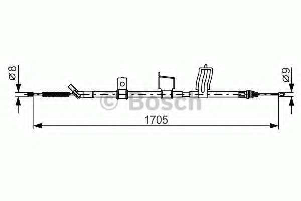 Трос, стояночная тормозная система BOSCH 1 987 482 339