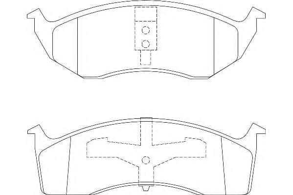 Комплект тормозных колодок, дисковый тормоз WAGNER WBP23043A