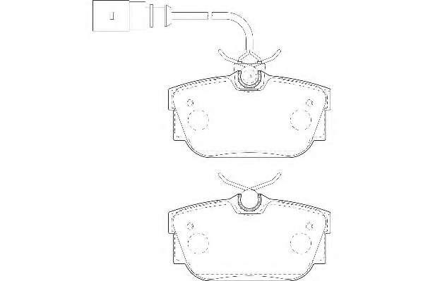 Комплект тормозных колодок, дисковый тормоз WAGNER WBP23224A