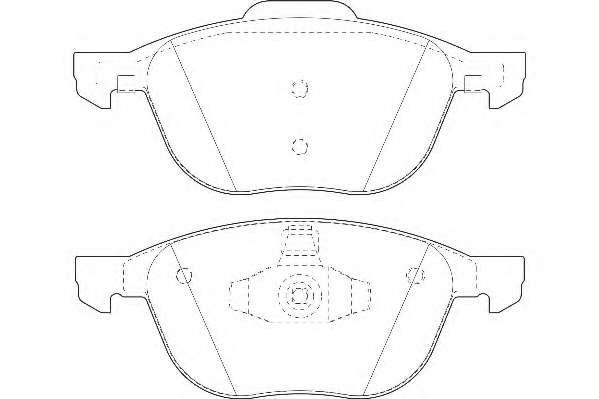 Комплект тормозных колодок, дисковый тормоз WAGNER WBP23723A