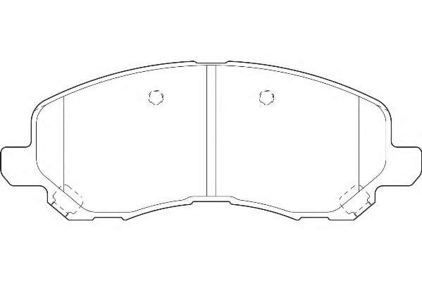 Комплект тормозных колодок, дисковый тормоз WAGNER WBP23584A