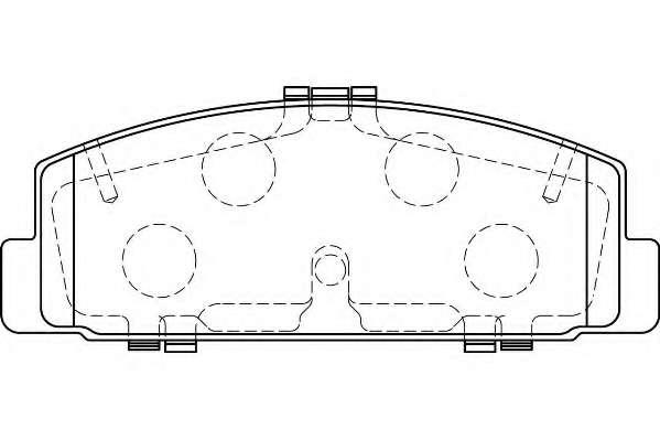 Комплект тормозных колодок, дисковый тормоз WAGNER WBP24045A