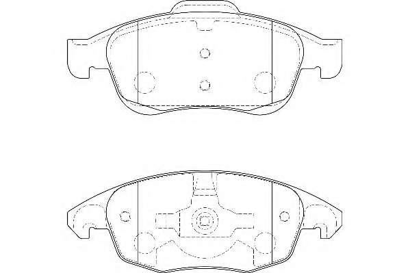 Комплект тормозных колодок, дисковый тормоз WAGNER WBP24538A