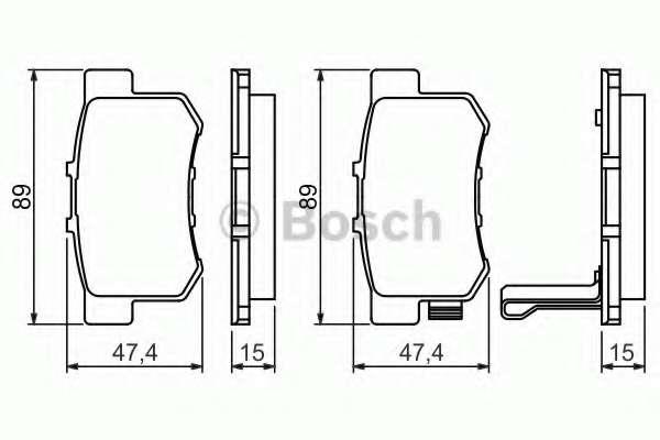 Комплект тормозных колодок, дисковый тормоз HONDA 43022-TR0-E00