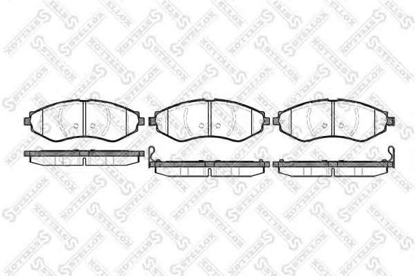 Комплект тормозных колодок, дисковый тормоз GENERAL MOTORS 96405129