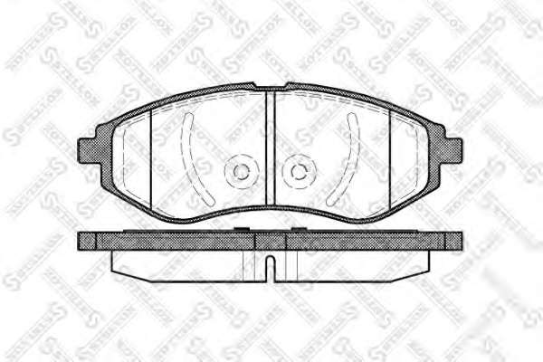 Комплект тормозных колодок, дисковый тормоз GENERAL MOTORS 96534653