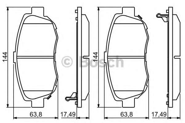 Комплект тормозных колодок, дисковый тормоз TOYOTA 04465 30271