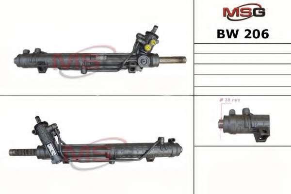 Рулевая рейка MSG BW 206