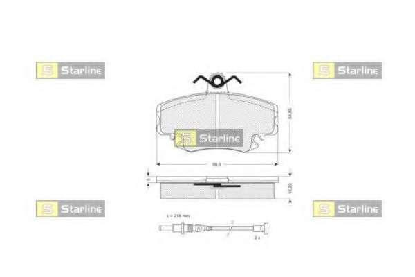 Комплект тормозных колодок, дисковый тормоз STARLINE BD S025