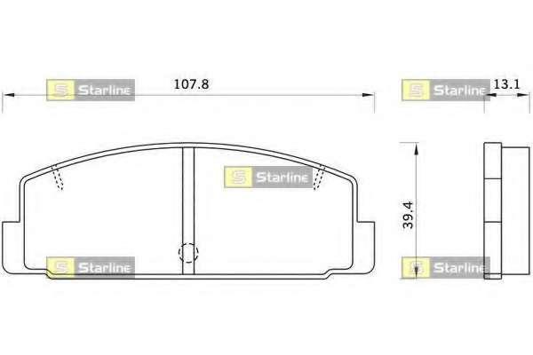 Комплект тормозных колодок, дисковый тормоз STARLINE BD S262