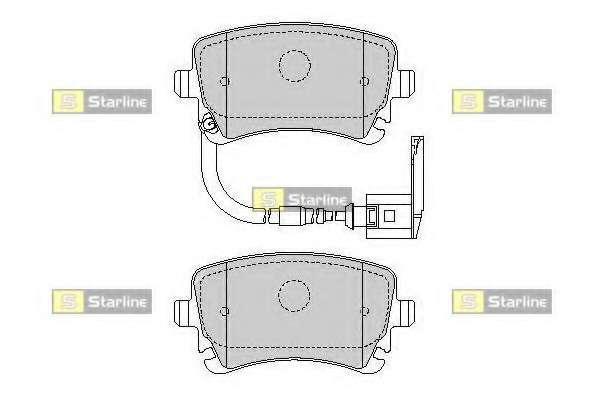 Комплект тормозных колодок, дисковый тормоз STARLINE BD S355