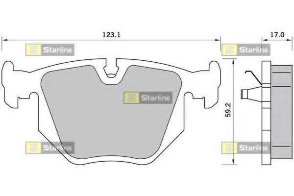 Комплект тормозных колодок, дисковый тормоз STARLINE BD S363