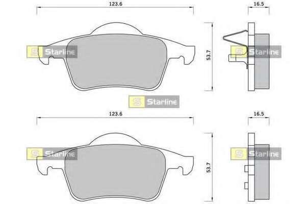 Комплект тормозных колодок, дисковый тормоз STARLINE BD S372