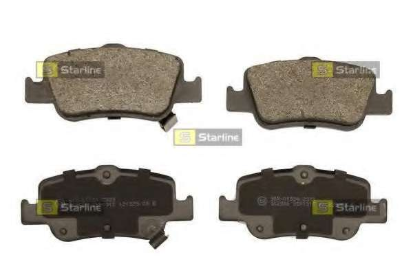 Комплект тормозных колодок, дисковый тормоз STARLINE BD S481