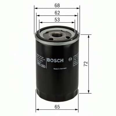 Масляный фильтр BOSCH 0 986 452 028