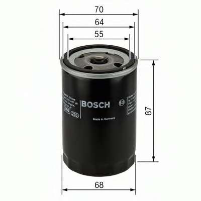 Масляный фильтр BOSCH 0 986 452 041