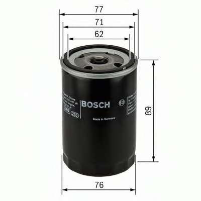 Масляный фильтр BOSCH 0 986 452 044