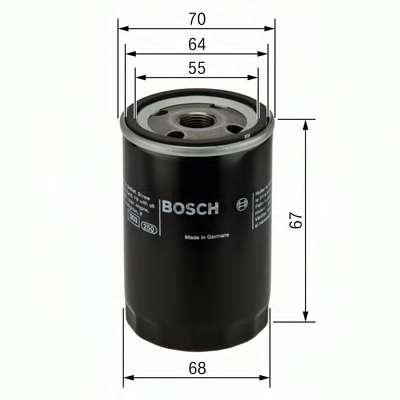 Масляный фильтр BOSCH 0 986 452 058