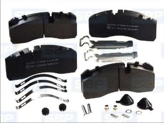 Комплект тормозных колодок, дисковый тормоз SBP 07-P29095