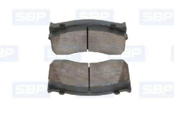 Комплект тормозных колодок, дисковый тормоз SBP 07-P29148
