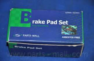 Комплект тормозных колодок, дисковый тормоз PARTS-MALL PKA-009