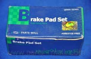 Комплект тормозных колодок, дисковый тормоз PARTS-MALL PKA-012