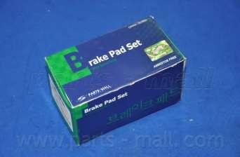 Комплект тормозных колодок, дисковый тормоз PARTS-MALL PKA-028