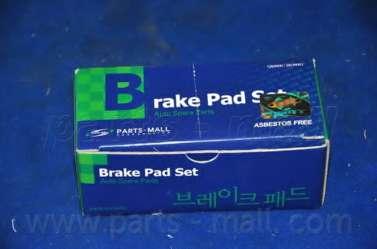 Комплект тормозных колодок, дисковый тормоз PARTS-MALL PKA-033