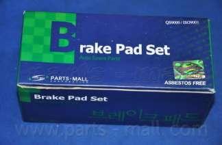 Комплект тормозных колодок, дисковый тормоз PARTS-MALL PKA-036