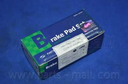 Комплект тормозных колодок, дисковый тормоз PARTS-MALL PKA-E09