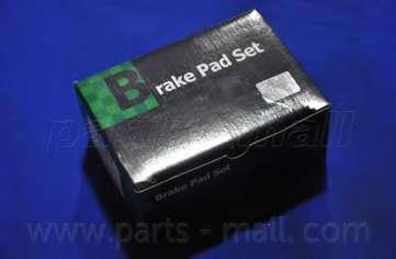 Комплект тормозных колодок, дисковый тормоз PARTS-MALL PKB-005