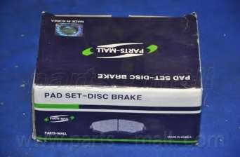 Комплект тормозных колодок, дисковый тормоз PARTS-MALL PKB-007