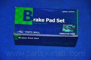 Комплект тормозных колодок, дисковый тормоз PARTS-MALL PKB-012