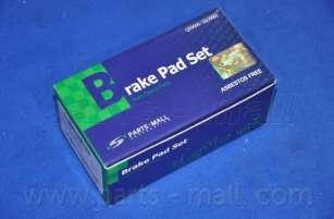 Комплект тормозных колодок, дисковый тормоз PARTS-MALL PKB-034