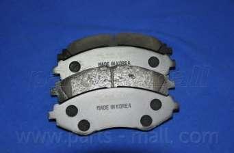 Комплект тормозных колодок, дисковый тормоз PARTS-MALL PKC-003