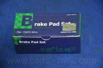Комплект тормозных колодок, дисковый тормоз PARTS-MALL PKC-016