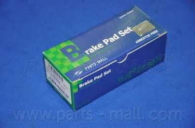 Комплект тормозных колодок, дисковый тормоз PARTS-MALL PKW-011