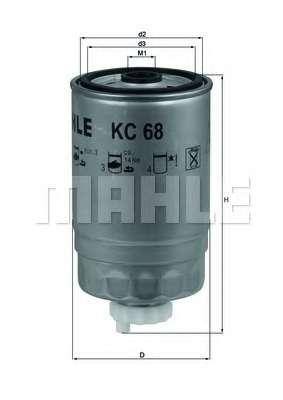 Топливный фильтр KNECHT KC 68