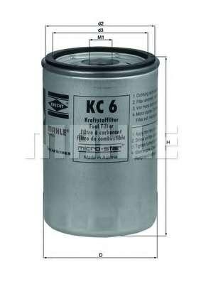 Топливный фильтр KNECHT KC 6