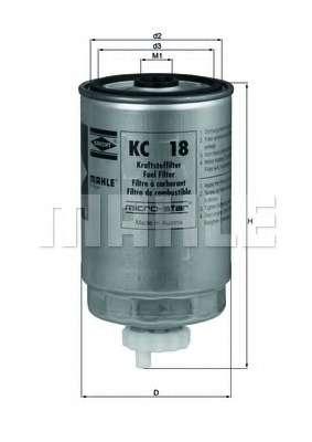 Топливный фильтр KNECHT KC 18