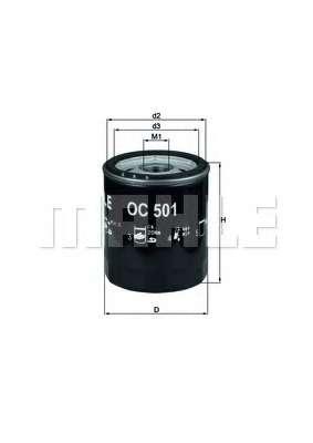 Масляный фильтр KNECHT OC 501