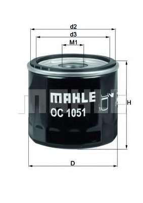 Масляный фильтр KNECHT OC 1051