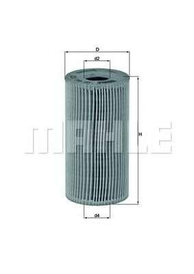 Масляный фильтр KNECHT OX 441D