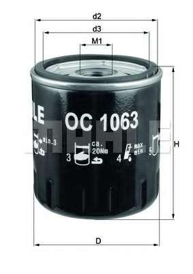 Масляный фильтр KNECHT OC 1063